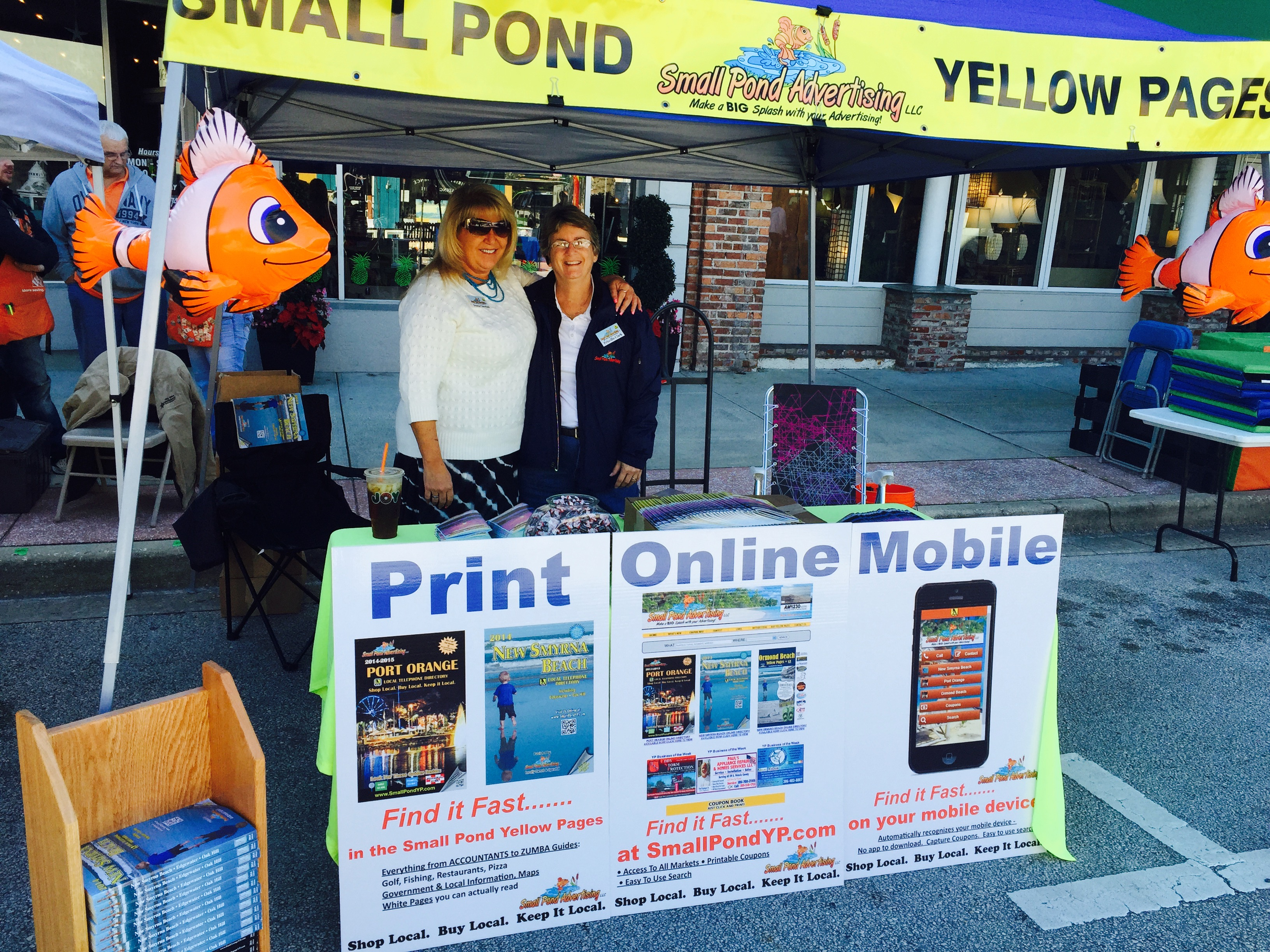 Small pond advertising shop local buy local keep it local for Local pond stores